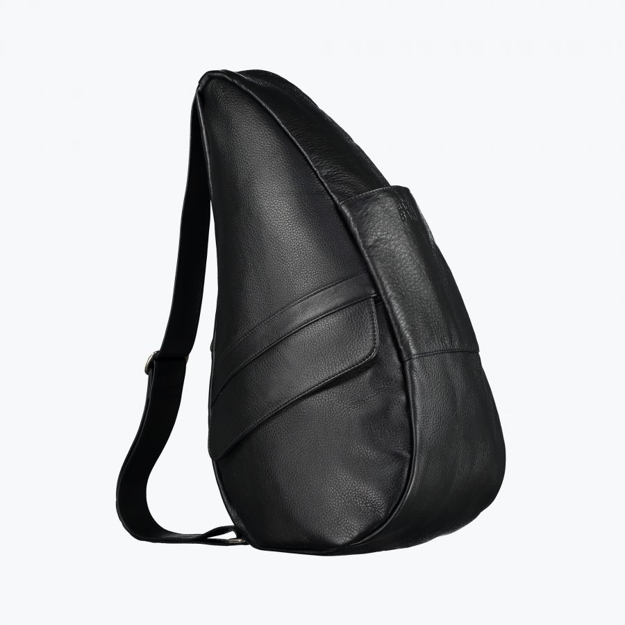 5304-BK_3 Leather Bag Black M