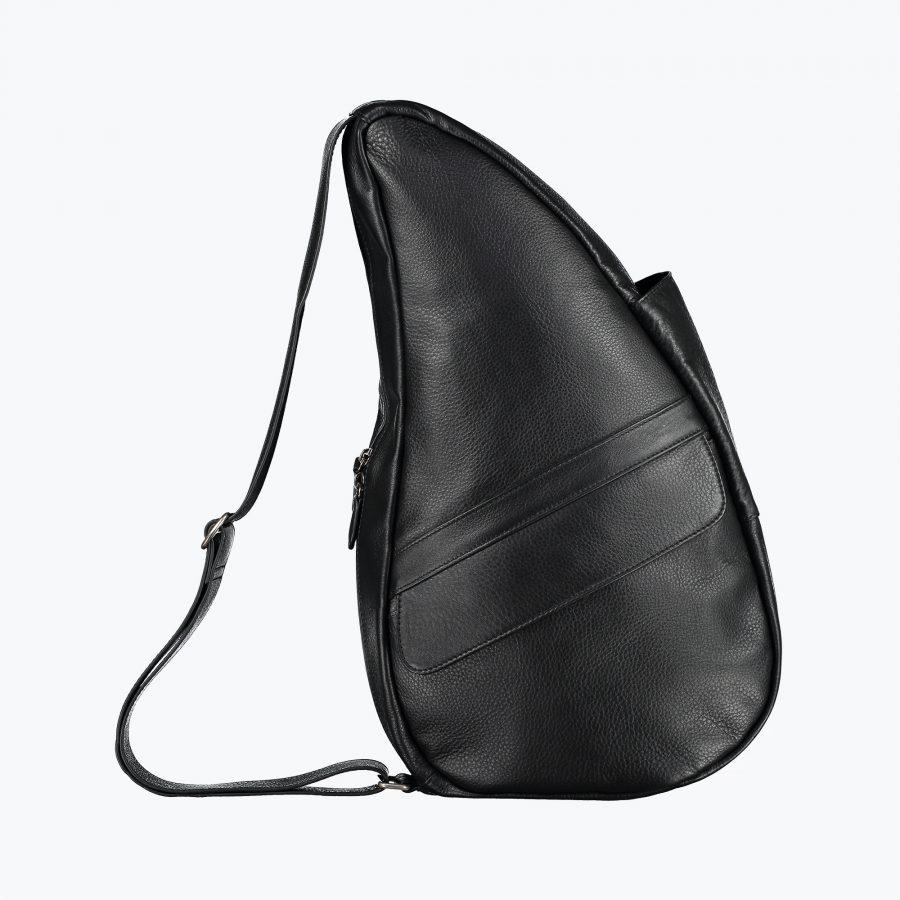5304-BK_4 Leather Bag Black M