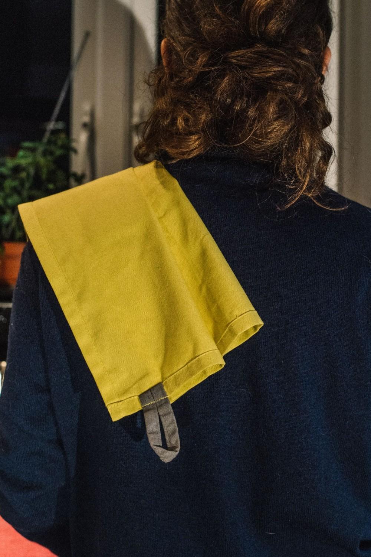 BCS132 Cotton Tea Towel Tuscan Yellow Lifestyle 4